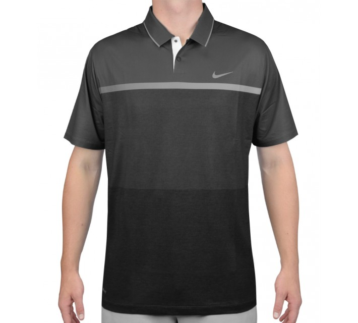 TIGER WOODS MOBILITY PRINT POLO DARK GREY - AW15 CLOSEOUT