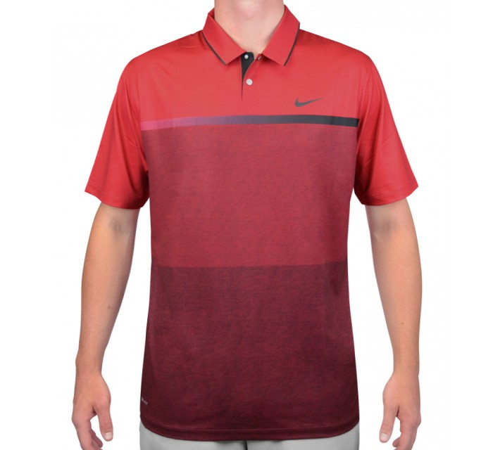 TIGER WOODS MOBILITY PRINT POLO GYM RED - AW15 CLOSEOUT