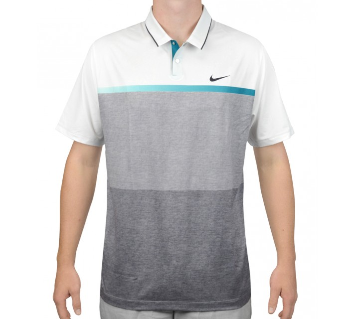 TIGER WOODS MOBILITY PRINT POLO WHITE - AW15 CLOSEOUT