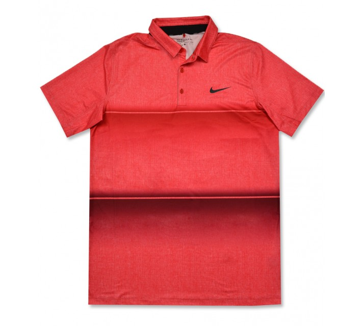 NIKE MOBILITY STRIPE POLO GYM RED/UNIVERSITY RED - AW16 CLOSEOUT