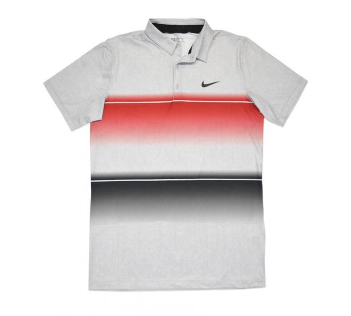NIKE MOBILITY STRIPE POLO UNIVERSITY RED - SS16 CLOSEOUT