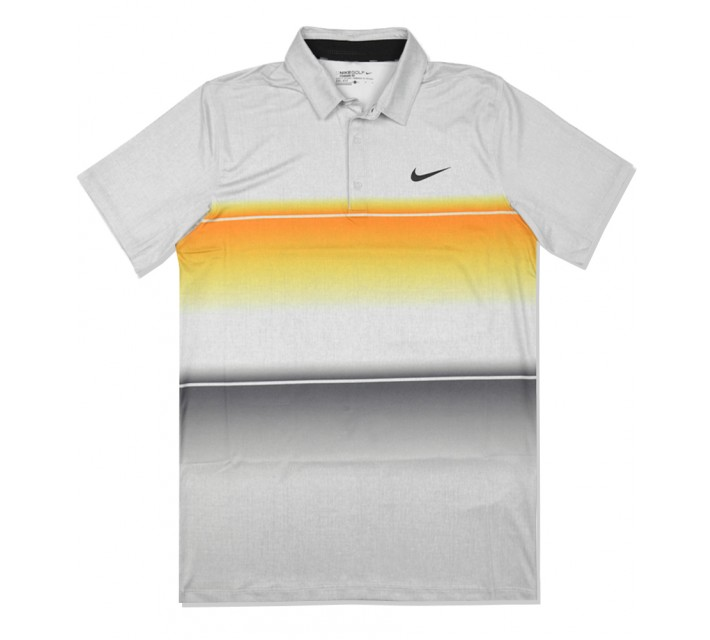NIKE MOBILITY STRIPE POLO VIVID ORANGE - SS16 CLOSEOUT
