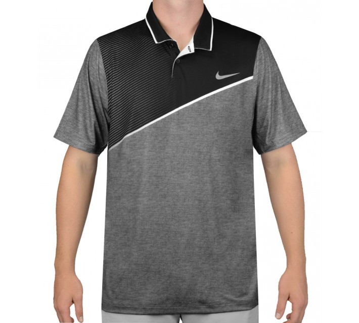 NIKE MOMENTUM 26 POLO BLACK - AW15 CLOSEOUT