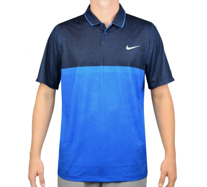 NIKE MOMENTUM CAMO POLO PHOTO BLUE - AW15 CLOSEOUT