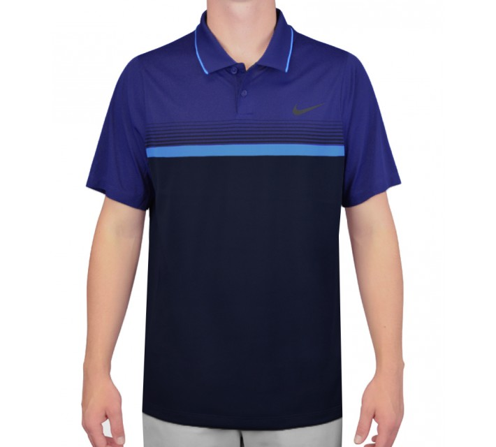 NIKE MOMENTUM STRIPE POLO MIDNIGHT NAVY/DEEP ROYAL - AW15 CLOSEOUT