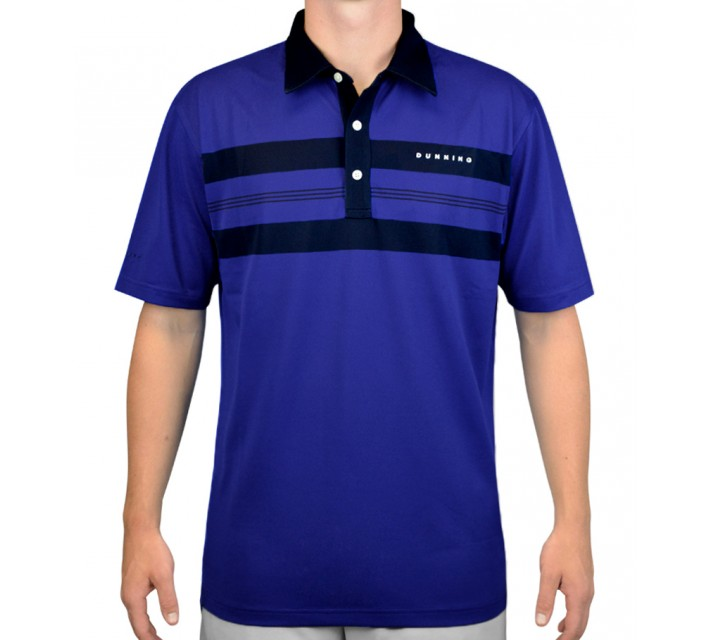 DUNNING PIQUE MOTLEY STRIPE POLO SPACEMAN - AW15