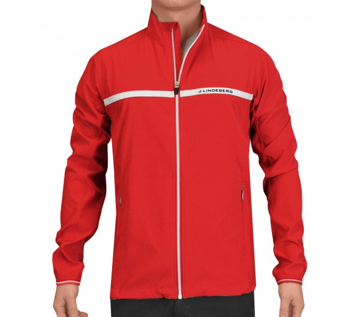J. LINDEBERG STRETCH JACKET SOFT SHELL RED INTENSE - SS15