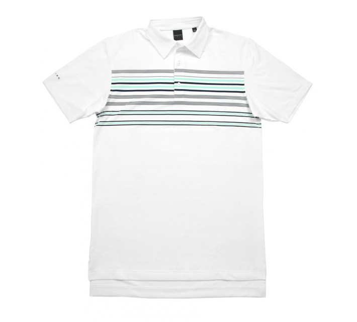 DUNNING MULTI-COLOR ENGINEERED JERSEY POLO WHITE/BEACH GLASS - SS16