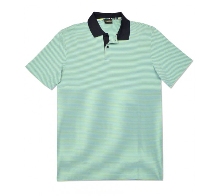 GOLFINO MULTI STRIPED DRY COMFORT POLO MINT - SS16