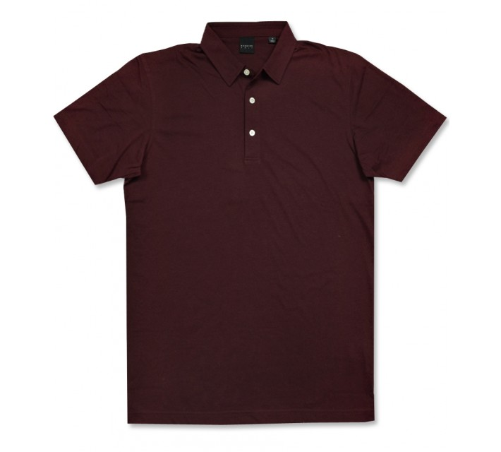 DUNNING NATURAL HAND POLO BURGUNDY - AW16