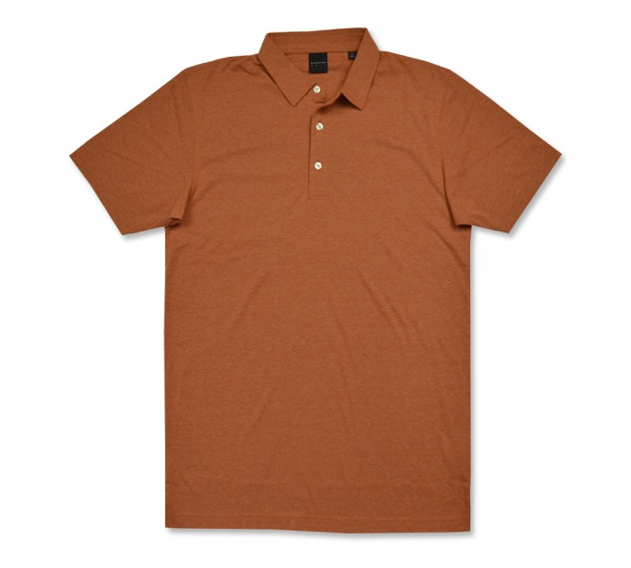 DUNNING NATURAL HAND POLO BURNT ORANGE HEATHER - AW16