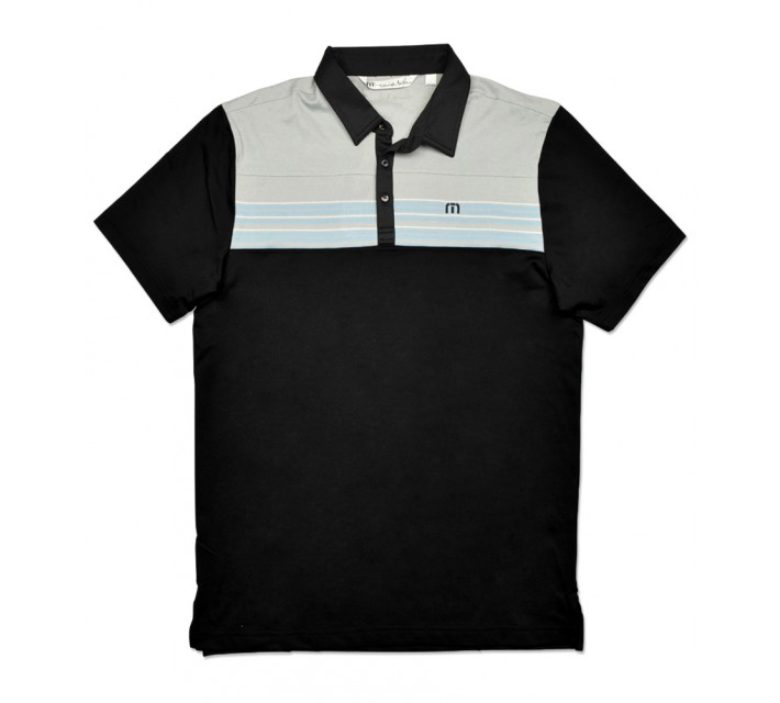 TRAVISMATHEW NEAP GOLF SHIRT BLACK - SS16