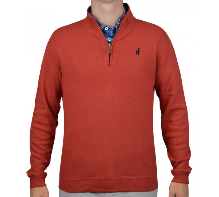 JOHNNIE-O NEWPORT 1/4 ZIP PULLOVER RED - AW15