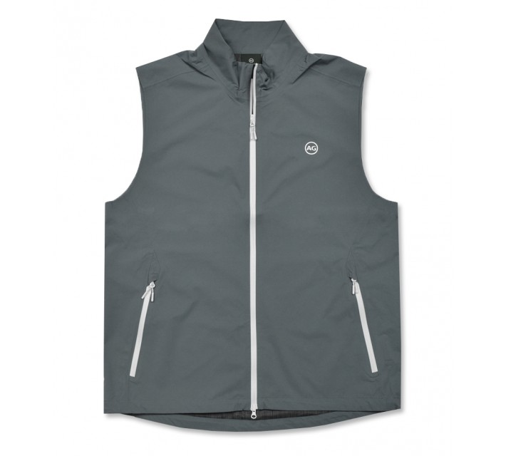 AG GREEN LABEL THE NEWTON VEST BLUE SMOKE - AW16