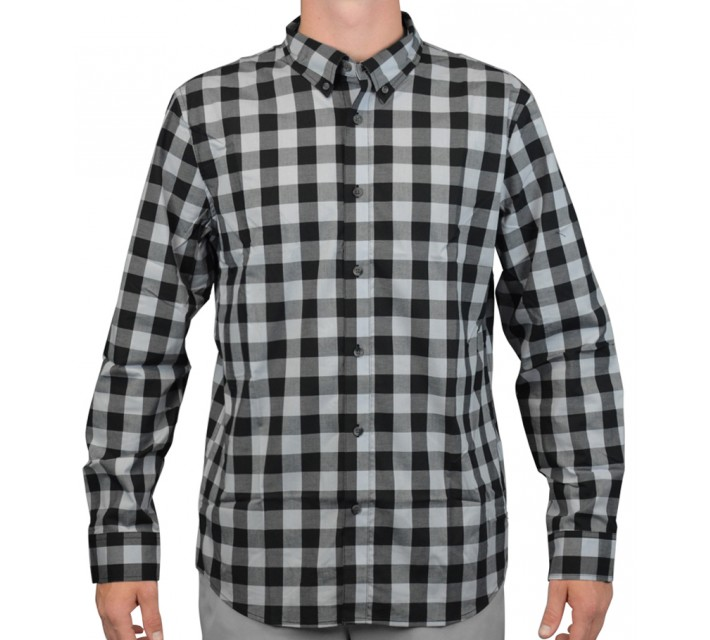 OAKLEY NIGHT OUT WOVEN SHIRT JET BLACK - AW15