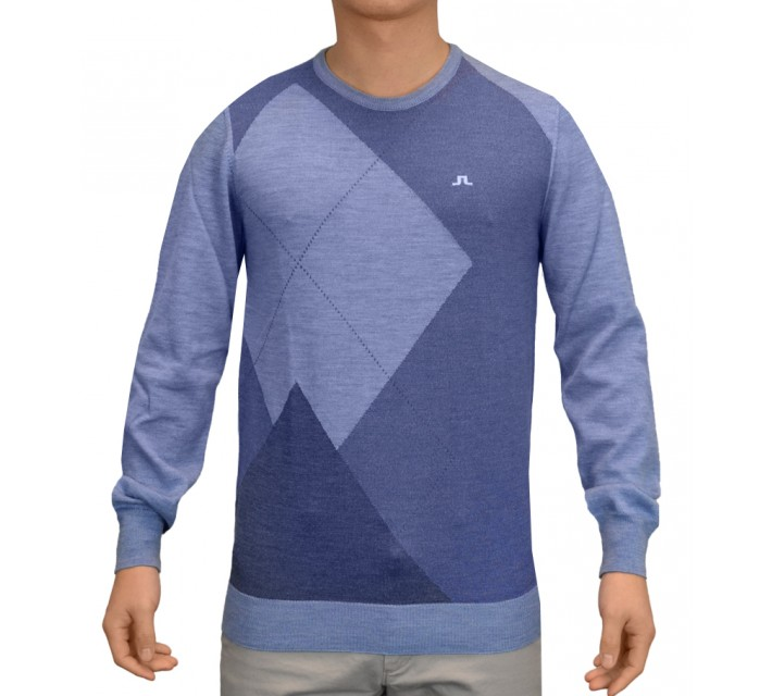 J. LINDEBERG NOELL TRUE MERINO SWEATER CLEAR BLUE - SS15