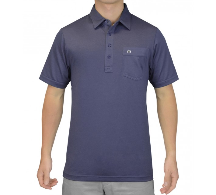 TRAVISMATHEW GOLF SHIRT OG INDIGO - SS15