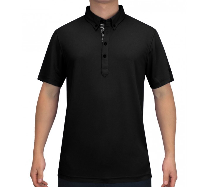 ABACUS OLIVER POLO BLACK - SS15