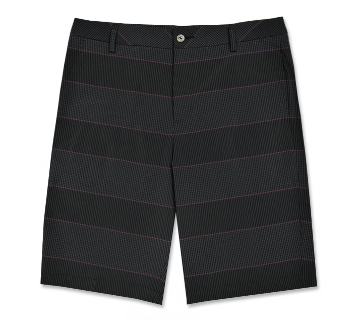 PUMA PATTERN SHORT PUMA BLACK/BEETROOT - AW16