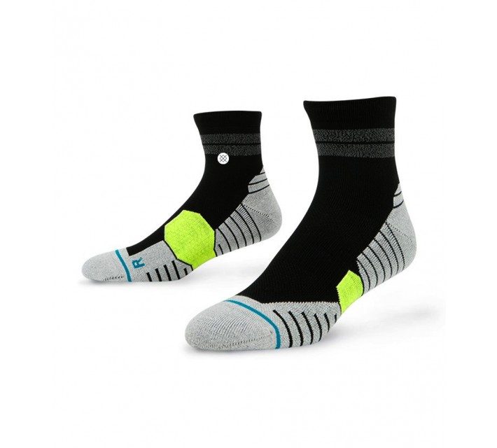 STANCE GOLF SOCKS PEBBLE QUARTER BLACK - AW16