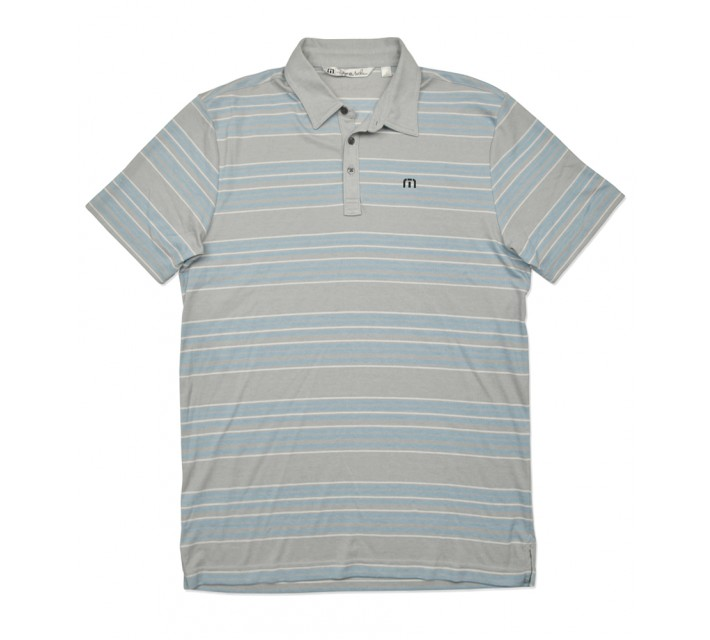 TRAVISMATHEW PELI GOLF SHIRT HEATHER GRIFFIN - SS16