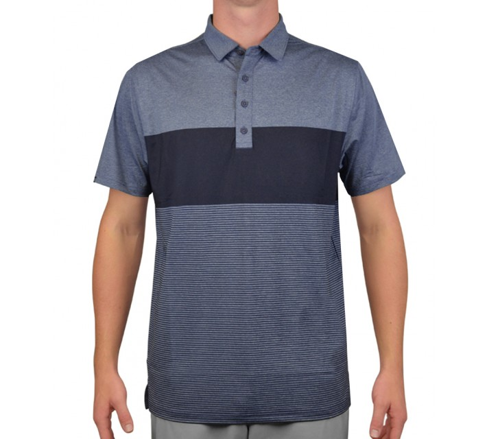 MATTE GREY PENNETT GOLF POLO GRAPHITE HEATHER/SMOKE - AW15