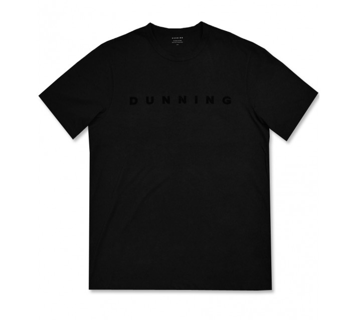 DUNNING SHORT SLEEVE DUNNING PERFORMANCE CREW BLACK - AW16