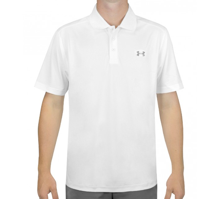 UNDER ARMOUR PERFORMANCE GOLF POLO WHITE - SS16