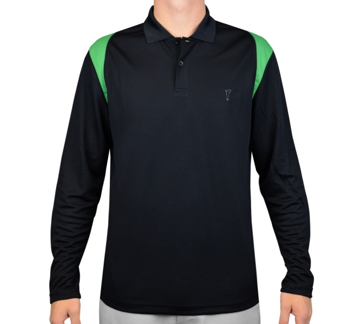 GOLFINO PERFORMANCE L/S POLO NAVY - AW15