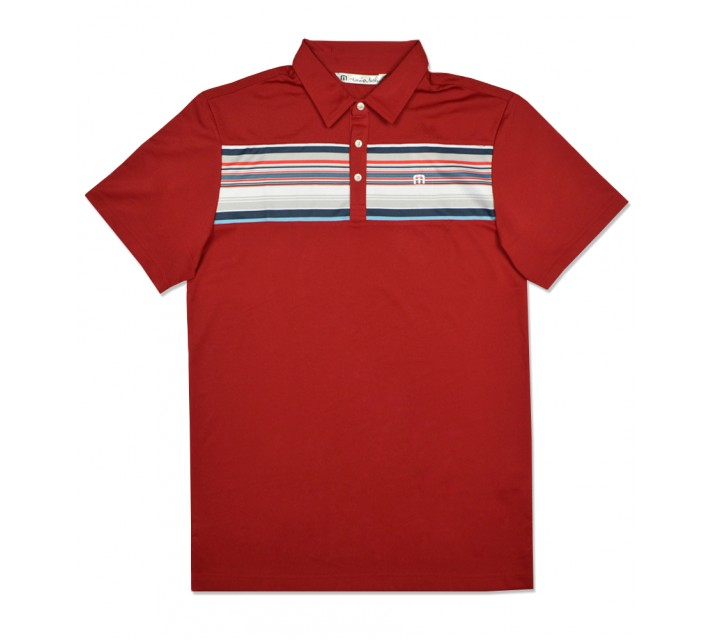 TRAVISMATHEW PETIE GOLF SHIRT POMPEIAN RED - SS16