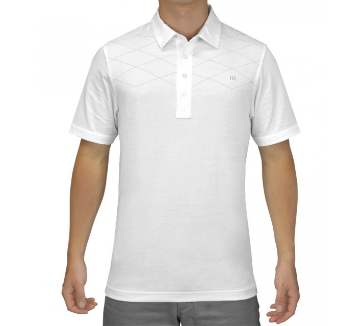 TRAVISMATHEW GOLF SHIRT PINDROP WHITE - SS15