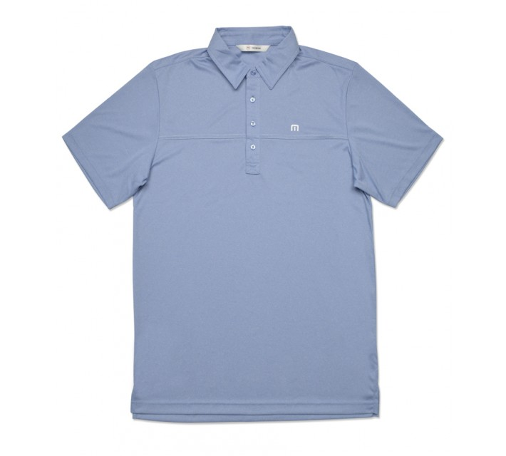 TRAVISMATHEW PLAYER GOLF SHIRT BRILLIANT BLUE HEATHER - AW16