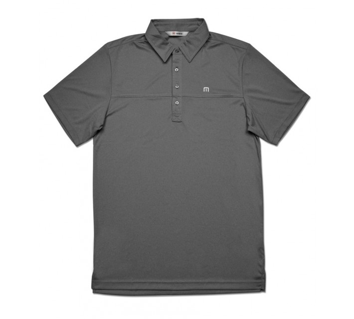 TRAVISMATHEW PLAYER GOLF SHIRT DARK GREY - SS16