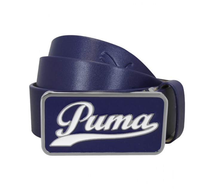 PUMA SCRIPT FITTED BELT NAVY BLUE - SS15