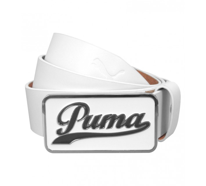 PUMA SCRIPT FITTED BELT WHITE - AW15