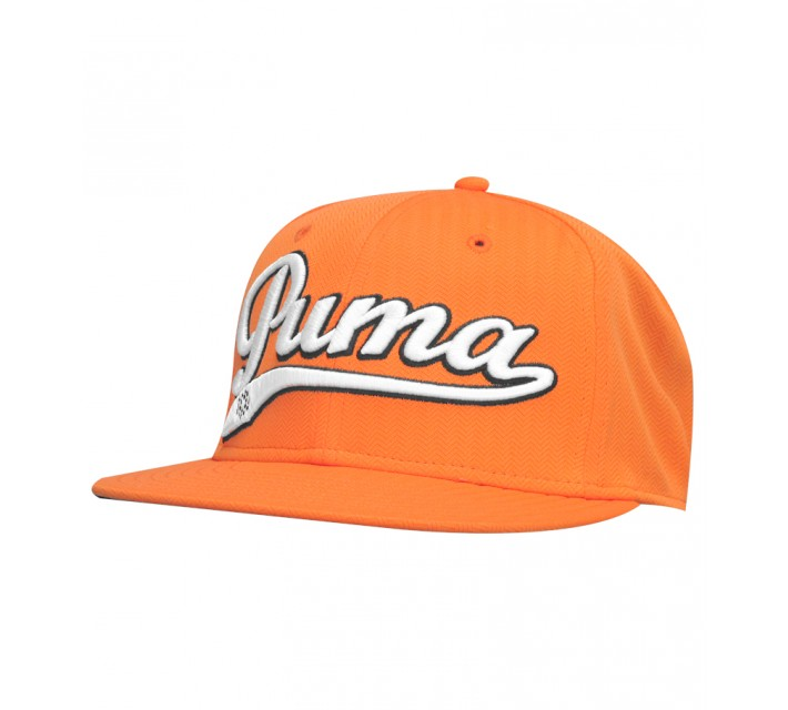 PUMA SCRIPT COOL CELL SNAPBACK CAP VIBRANT ORANGE - AW15