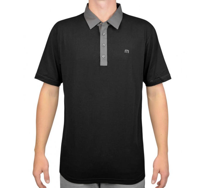 TRAVISMATHEW GOLF SHIRT POOL BOY BLACK - AW15