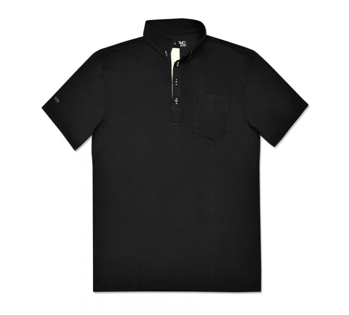 G-MAC PORTRUSH POLO BLACK/OYSTER - AW16