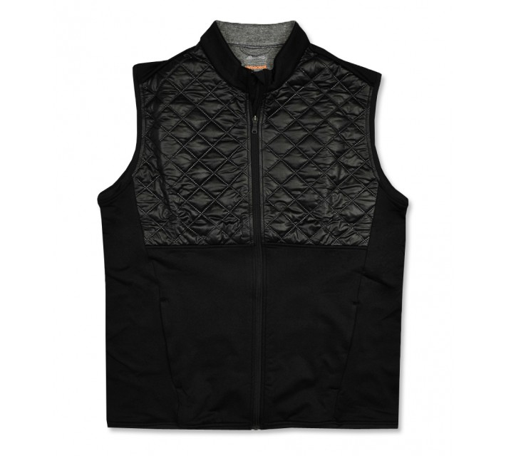 ADIDAS CLIMAHEAT PRIME QUILTED FULL ZIP VEST BLACK - AW16