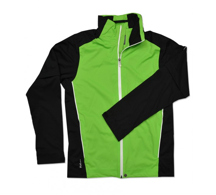 CROSS PRO ZIP OFF RAIN JACKET GRANNY GREEN - SS16