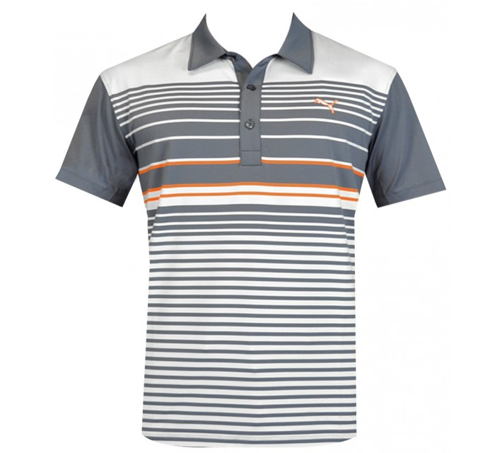 PUMA JUNIOR BOYS YD STRIPE POLO FOLKSTONE GREY - SS15