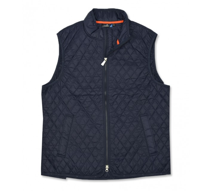 J. LINDEBERG QUILTED CLUB VEST NAVY PURPLE - AW16