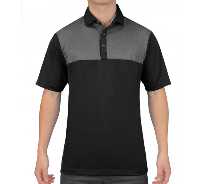 HOLLAS REDFORD GOLF SHIRT BLACK - SS15