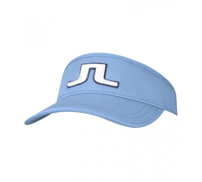 J. LINDEBERG REE FLEX TWILL VISOR CLEAR BLUE - SS15