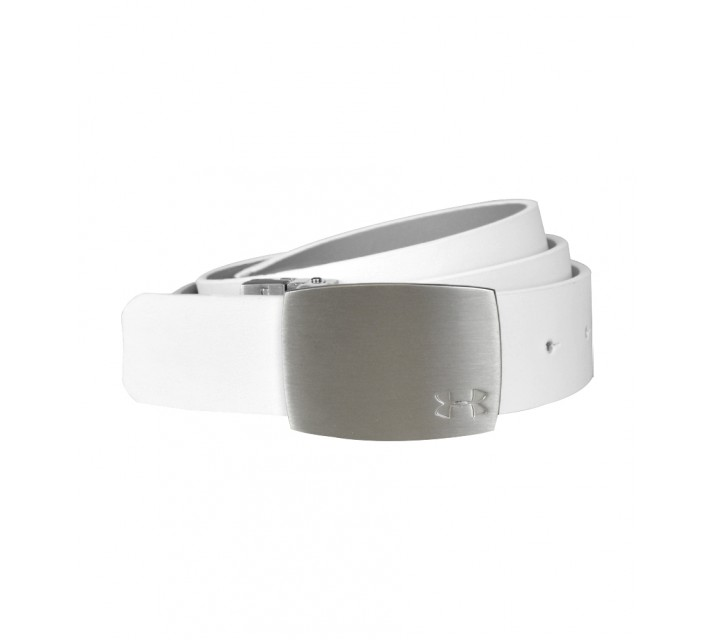 UNDER ARMOUR REVERSIBLE LEATHER BELT WHITE/ALUMINUM - AW15