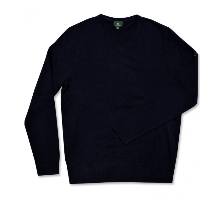 AG GREEN LABEL THE RIDGEWOOD V-NECK SWEATER NAVAL BLUE - AW16