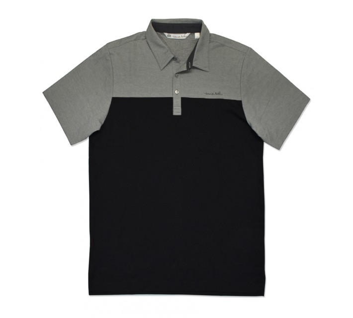 TRAVISMATHEW RUDDER GOLF SHIRT BLACK - SS16