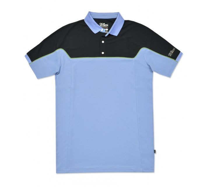 OSCAR JACOBSON RUSSEL POLO LIGHT BLUE - SS16