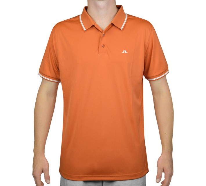 J. LINDEBERG RUY TX JERSEY ORANGE/RED - AW15