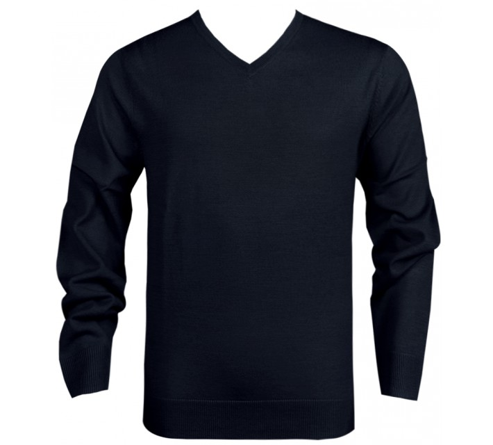 DUNNING MERINO V NECK SWEATER BLACK - SS16